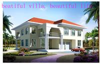 European standard low cost steel structure residence