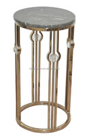 Indoor marble top copper Stainless steel plant stand pot stand