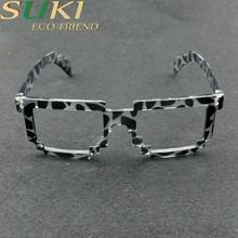 Colorful printing plastic frame glasses