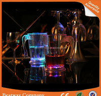 New ideas led flash light emitting dolphin cup wine bar luminous colorful LED Cup ice mug cup water induction