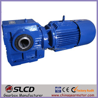 S57 electric helical worm geared reducer gear box