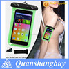 New universal super clear pvc waterproof phone bag for iphone 6 armband