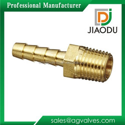 """Brass Hose Fitting, Adapter, 1/4"""" Barb x 1/4"""" NPT Male Pipe"""