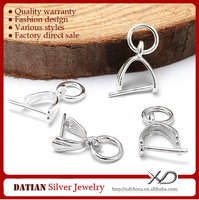 XD P361 Factory Direct Sale 925 Sterling Pendant Pinch Bail Silver
