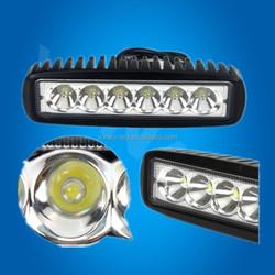 6inch IP67 12V-30V led light bars for trucks 18W led light work light car roof top light bar slim offoard led light bar