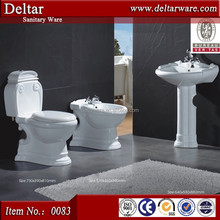 china two piece toilet pedestal , Morocco artistic washroom toilet basin sink
