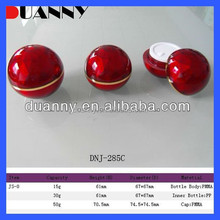 BEST SELLING LATEST RED ACRYLIC COSMETIC JARS,BALL SHAPE CREAM JAR