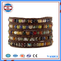 Alibaba Guangzhou Factory Direct DIY Bead Wholesale Leather Wrap Bracelets