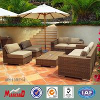 Plastic Rattan outdoor rattan sofa sets