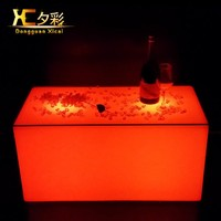 Rectangle LED Coffee Tables Bar Wine Drinking End Table Living Room Furniture