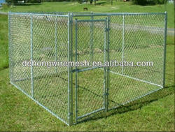 Large steel chain link outdoor dog kennels wholesale(ISO9001)