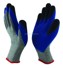10G10S polyester with latex coated glove,double coated on the finger