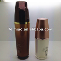 Cosmetic acrylic bottle with lotion pump