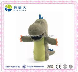 Plush Green Dinosaur Soft hand puppet for kids