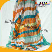 spun polyester voile hijab keffiyeh rainbow scarf long with high twist, 80S*80S, 100S*100S