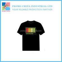 2015 New Arrival EL Led Music Light T Shirt Voice Control T Shirt For Promotion