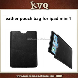 Hot selling PU Leather Case Cover Skin Pouch Bag For ipad mini 4 cover