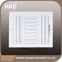 Popular for the market factory directly white powder-coated steel air grille air vent with damper