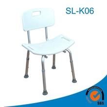 plastica e alluminio doccia sedile pieghevole con gambe regolabili