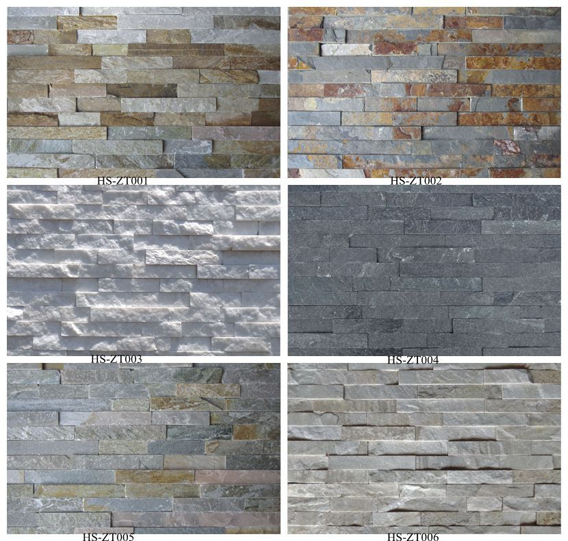Zt520 natural cultural stone wall tile in rough stone veneer - Ceramica imitacion ladrillo ...