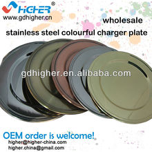 stainless steel colourful bead charger plate wholesale