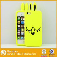 heat protection rabbit animal silicone cover for iphone 5