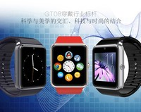 high quality waterproof wifi bluetooth android smart watch mobile phone 2015 GV08 GT08 watch stand