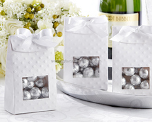 White Textured Goodie Bags with Window
