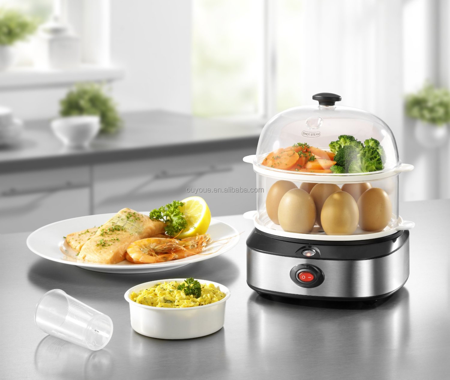 Stainless Steel Electric Vegetable Steamer ~ Stainless steel electric food steamer view