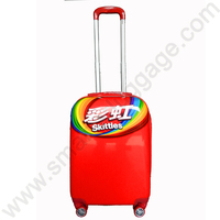 2015 Hot-sale Candy Color Plastic Trolley Suitcase ABS+PC