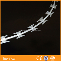 2014 China Supplier BTO-10 PVC Coated Galvanized Razor Barbed Wire Mesh