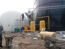 low cost fast install assembly biogas anaerobic digester for farms to dispose animals waste