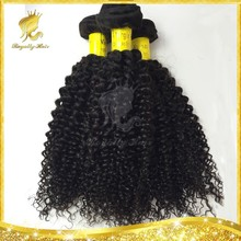 Wholesale price Good quality indian virgin hair, machine made weft, tangle and shedding free virgin IndianKinky curl hair
