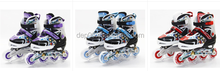 2015 best selling high quality adjust flashing inline skate shoes on sale