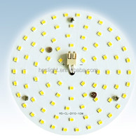 2015 newest AC 230V 2835 smd round led pcb board with aluminum board magnets installation