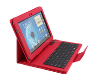 leather case 10.1 tablet pc wireless bluetooth keyboard for Samsung N8000