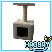 haobay Pet Fair Show wholesale cat home Wooden Cat Toy pet furniture