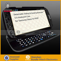 Unique Mobile Phone cover case for samsung galaxy s3 i9300 with keyboard