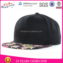 Two Tone Classical Design Adult's Style Custom Design 6 Panel Flat Brim Snap Back Buckle Caps
