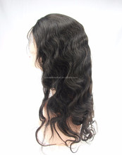 Hot sale human hair body wave 6a grade quality 130% density natural color 8-30 inch lace front wig making supplies