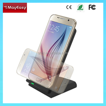 hot new products for 2015 wireless charger holder 3 Coils Charging Qi Wireless Charger Platform Stand