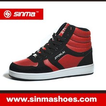 Men Red Basketball Shoes With Good PU Face Leather