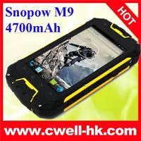 Original Snopow M9 Supper strong android smartphone dual SIM long standby 4700mah big battery IP68 phone
