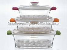 PP Microwave steamer 3pcs set