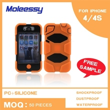 New arrival 3 in 1 man case for iphone 4/4s