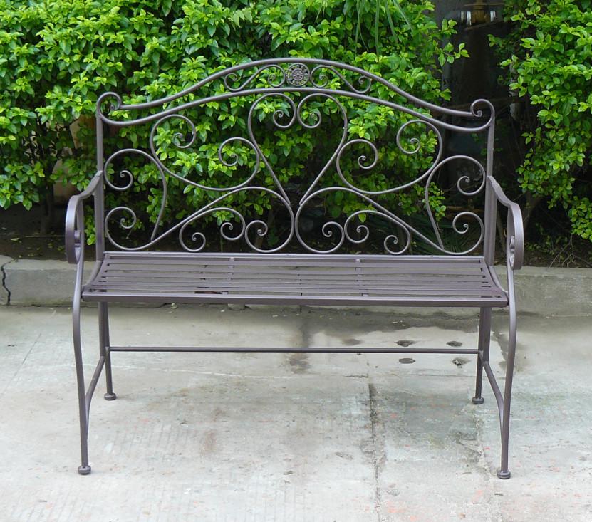 Top venda em forma de cora o do jardim 2 lugares banco de for Bancos de jardin usados