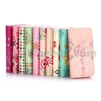 Cross Pattern Wallet Style Flip Stand TPU+ PU Leather Case for iPhone 5S 5 - Shining Stars