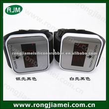Black color latest design cheap price led touch screen watches for women fancy watches