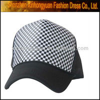 Leather strap flat brim baseball cap for men