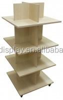 S13 Wooden 4 Tier shelf wooden Display, Retail Shoe shelf display, Retail store wooden display